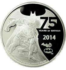 Batman 75th Anniversary 2 oz silver coin