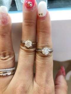 天然鑽石戒指1.01ct 1.02ct 各$17800