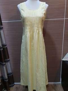 Yellow Long Dress Small