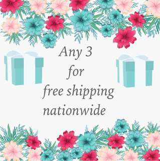 Any 3 free shipping nationwide