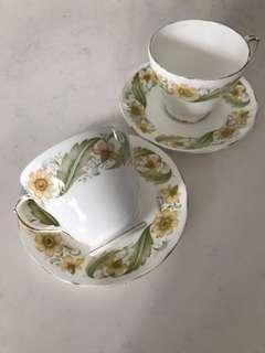 Vintage Teacups and Saucers (B)