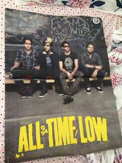 5 Seconds Of Summer and All Time Low back to back poster in Rocksound Magazine