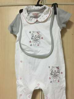 2pc Sleepsuit w/ Bib