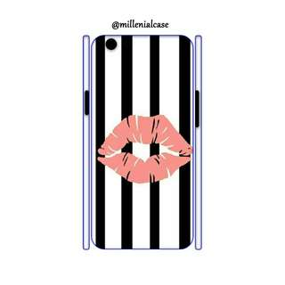 Premium black white lips hard/softcase(bs custom)