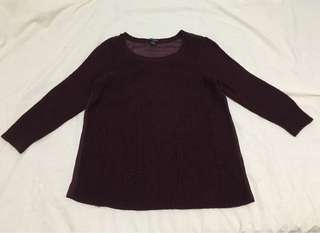 American Eagle Outfitters Sweater (See through back)