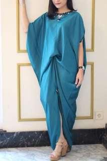 Kaftan premium maxmara blue biru