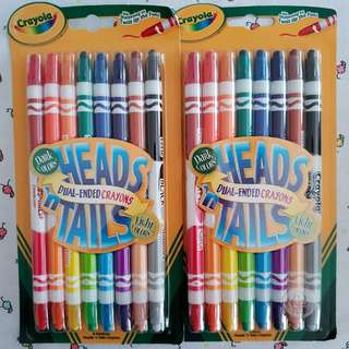 Crayola 8ct Heads n' Tails dual ended Twistable Crayons - BRAND NEW, 2 packs available