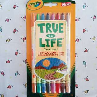 Crayola 8ct Twistable True to Life Tri Colour Tips crayons, Brand new, 1 pack available