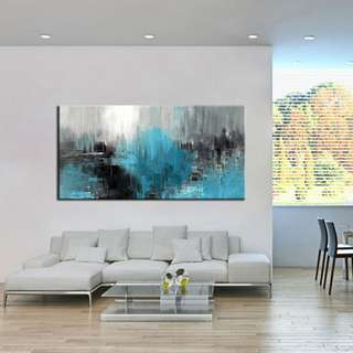 🚚 Abstract Art Oil Painting 50cm x 100cm