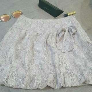 轉賣SO NICE* 今年最夯的pantone色--薰衣草紫~氣質蕾絲短裙