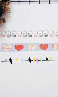 Used washi tape roll
