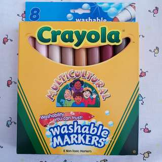 Crayola 8ct Washable markers - Multicultural, BRAND NEW, 1 pack available