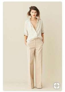 MNG caramel wide leg trousers
