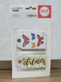 We R Memory Keepers 'Wildflower' Layered Tags
