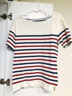 海軍風配色條紋 Tshirt