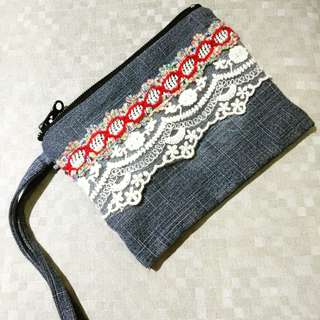 New Denim Handsling Pouch