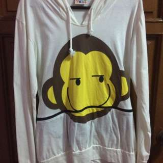 Monkey design hoodie - fits S-M - Used once