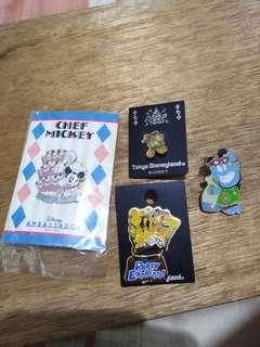 disney japan pins 4pcs set