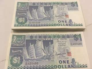 $1 Old Notes ( running sequences)