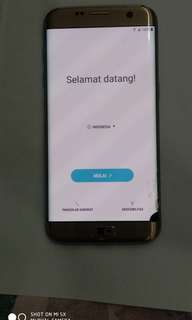 Samsung S7 edge gold ex resmi minus lcd