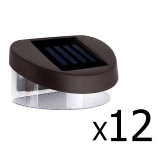 Set of 12 Solar Powered Lights