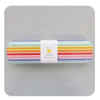 🌈 Slim Metal Pencil Case Compact Box School Stationary