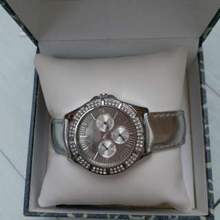 Silver guess watch Authentic