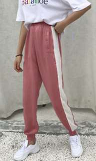 Ulzzang dusty pink joggers/pants/sweatpants