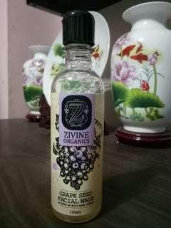 Zivine Organics Grapeseed Facial Wash