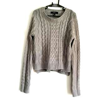 Forever 21 Grey Premium Knitted Sweater
