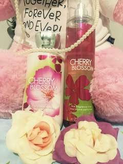 Bath & Body Works Cherry Blossom Lotion and Perfume Set