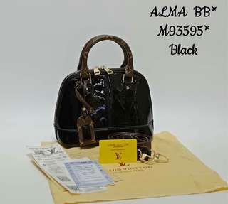 Louis Vuitton Alma BB Vernis Lisse Black