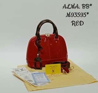 Louis Vuitton Alma BB Vernis Lisse Red