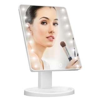608.Makeup Mirror with Lights,Charminer 16 LED Lighted Makeup Mirror Touch Illuminated Cosmetic Desktop Vanity Mirror with Stand,Handy Touching On/Off