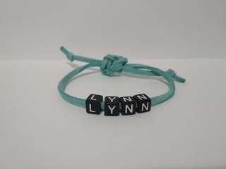 Customise name adjustable bracelet