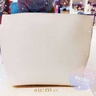 🚚 【黑皮TIME】SU:M37甦秘-藍白拼色時尚手提包(公司貨)G01G01290
