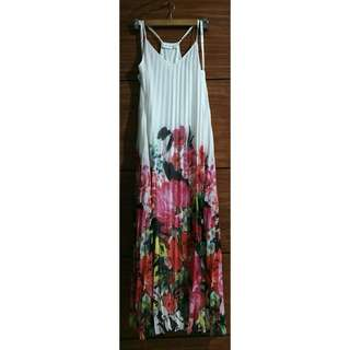White Floral Maxi Dress (Free shipping within Metro Manila)