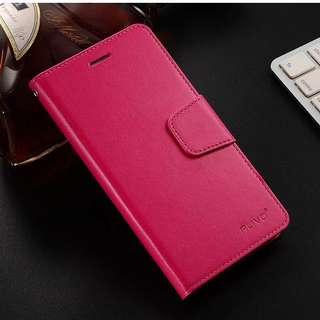 iPhone 6Plus 桃紅色 翻盖式皮套 可放卡片 防摔 (全新包平郵)