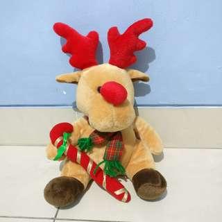 Boneka rusa deer doll brown cokelat coklat
