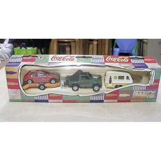 90年代產品可口可樂迷你盒裝車仔一套