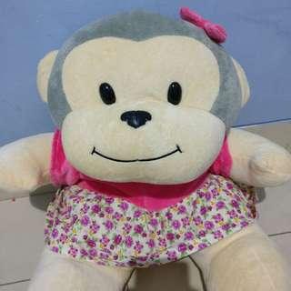 Monkey cute doll jumbo boneka monyet