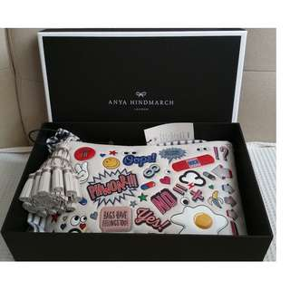 ANYA HINDMARCH All Over Stickers Georgiana Clutch (New)