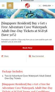 Adventure cove one day pass on 22 Jun 2018
