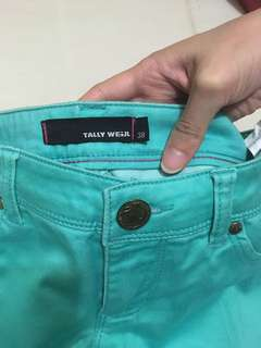 Tally Weijl turqoise chino jeans