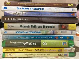 Grade 7,8,9 used textbooks