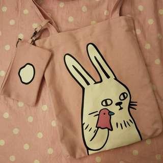 🚚 兔子 背包 單肩包 肩背包 包包