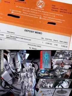 首日單 Hot Toys - MMS431D20 MMS431 - 鋼鐵人 1/6 Iron Man Mark II Mark 2 Mark ii