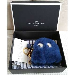 ANYA HIMDNARCH Ghost Shearling Coin Purse (New)
