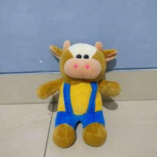 Boneka sapi cokelat brown cow doll