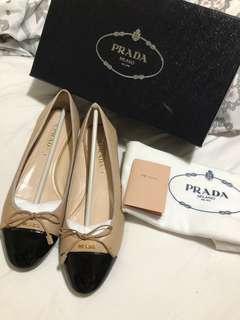Prada balllet flats size 40 comes complete